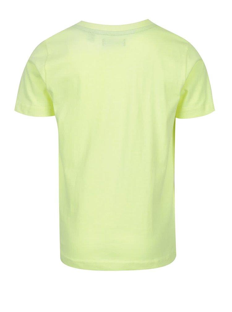 Žluté klučičí triko s motivem auta Blue Seven