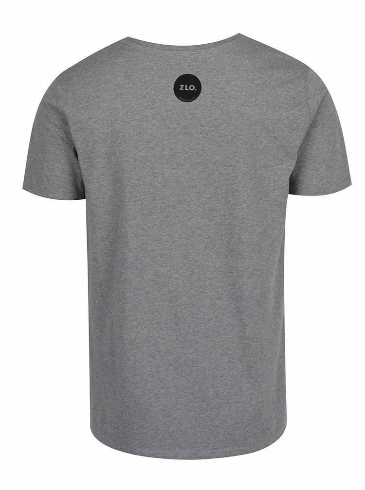 Šedé pánské triko ZOOT Originál Bych blil