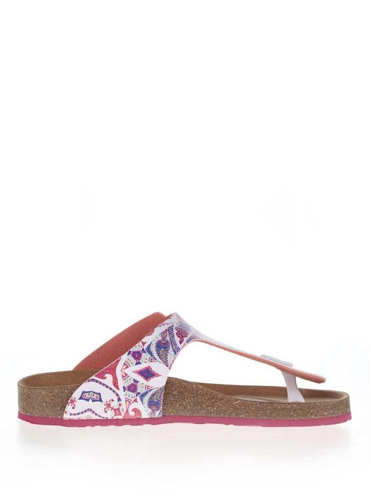Papuci roz Desigual Bio3 Hearts cu talpă ortopedică