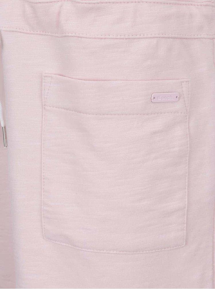 Světle růžové oversize šaty se stahováním v pase a kapsami Bench