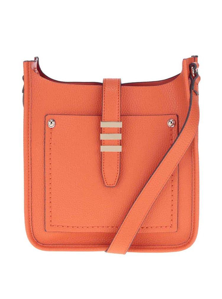 Oranžová crossbody kabelka s detaily ve zlaté barvě ALDO Peririen