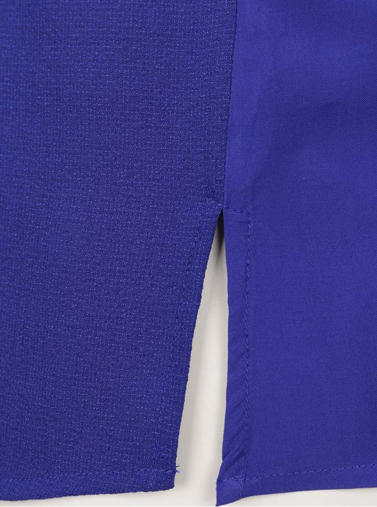 Modrá volná halenka bez rukávu s uzlem Bench
