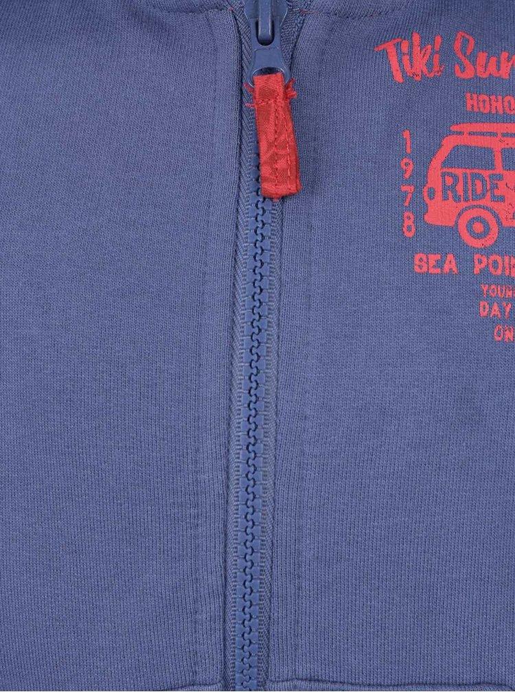 Hanorac albastru cu print Blue Seven pentru baieti