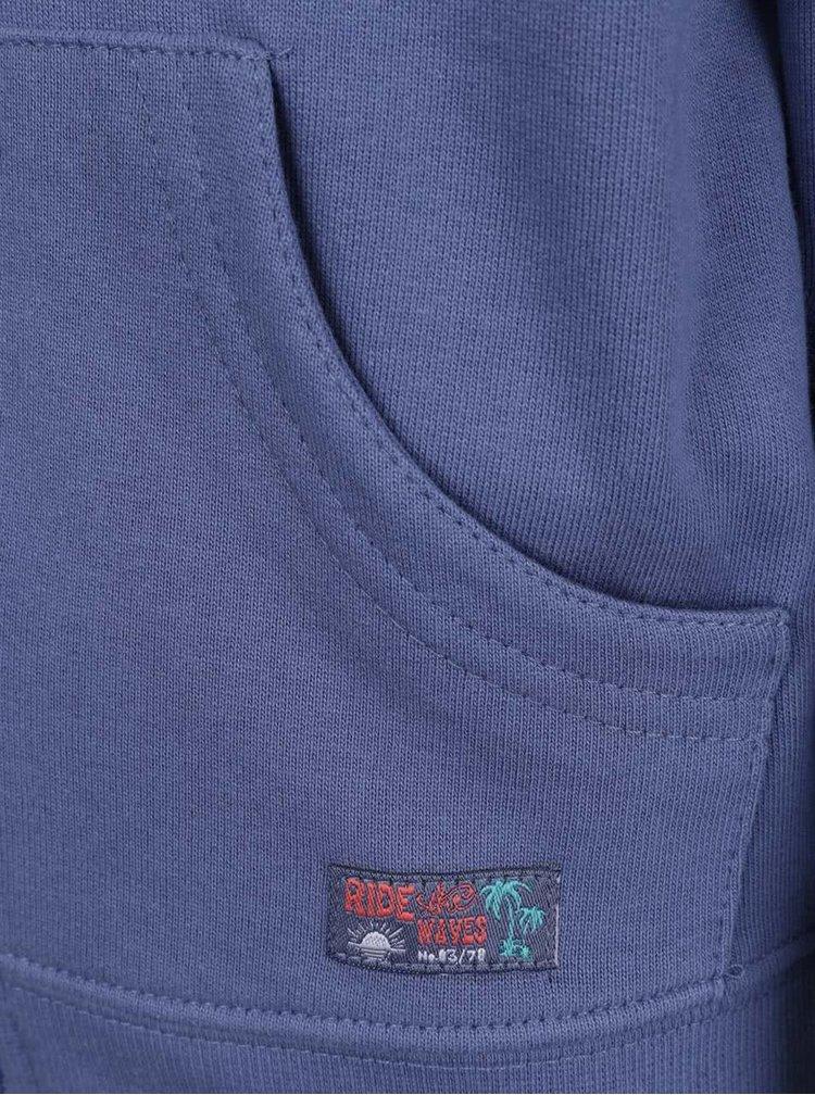 Modrá klučičí mikina s kapucí Blue Seven