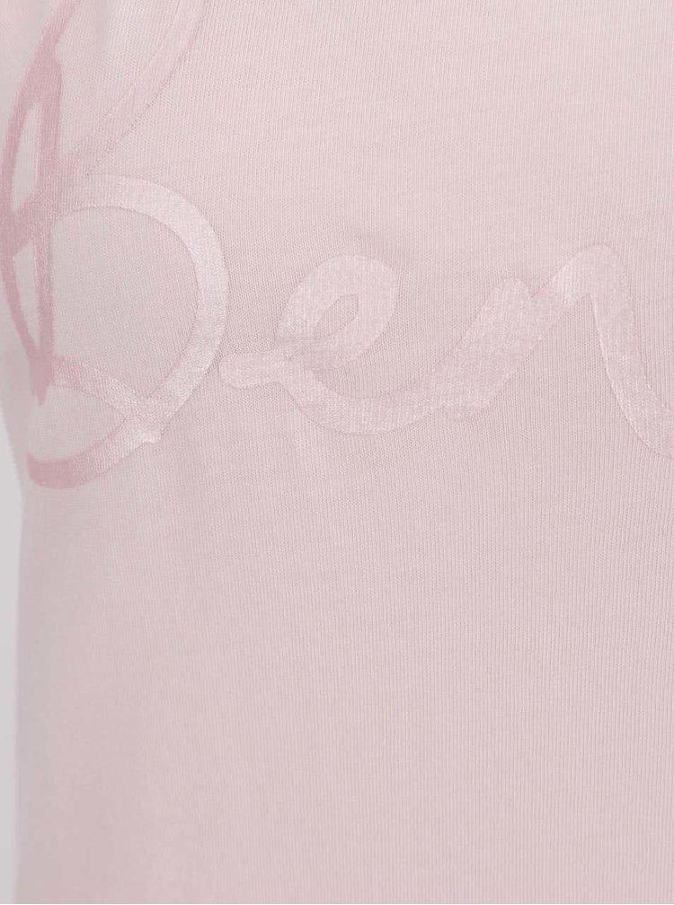 Růžové dámské tílko s potiskem Bench