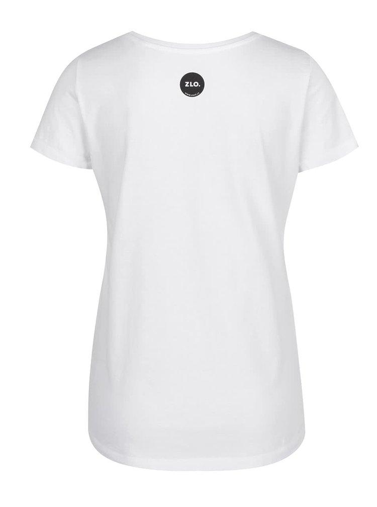 Bílé dámské tričko ZOOT Originál Hlavně se všichni neposerte