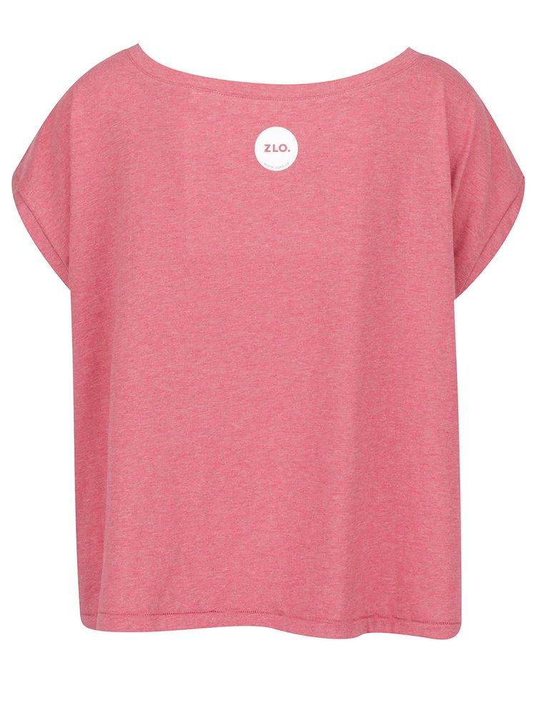 Růžové dámské oversize tričko ZOOT Originál Free fucks