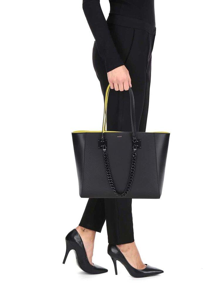 Žluto-černá kabelka s jemným vzorem ALDO Unieni