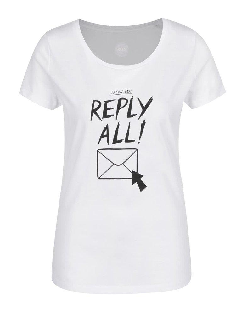 Tricou alb ZOOT Original Reply All din bumbac organic cu print