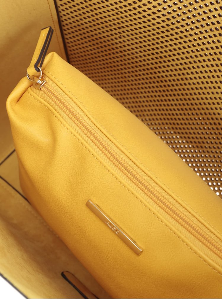 Žlutý perforovaný shopper s pouzdrem 2v1 ALDO Werlinger