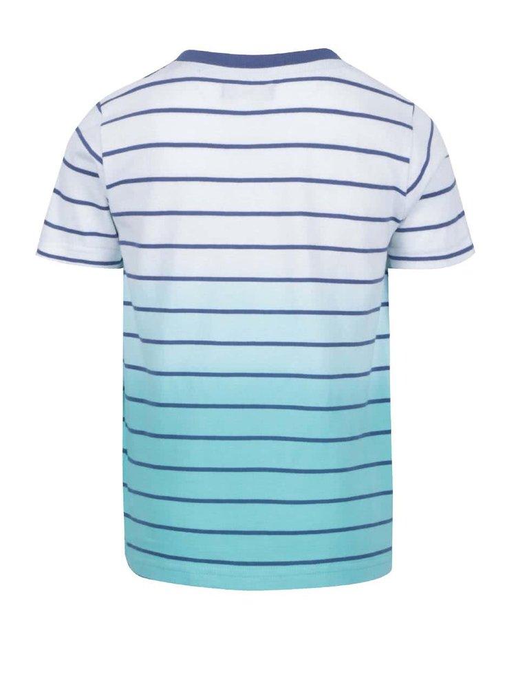 Bílo-zelené pruhované klučičí triko Blue Seven
