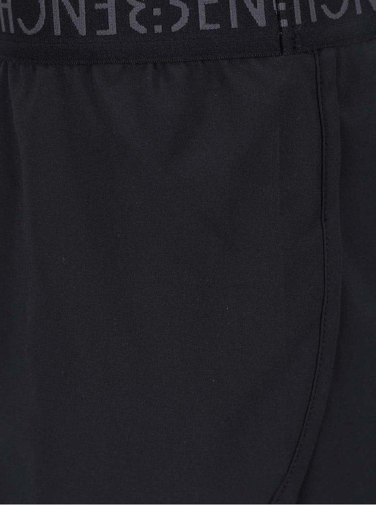 Černé dámské dvouvrstvé kraťasy Bench