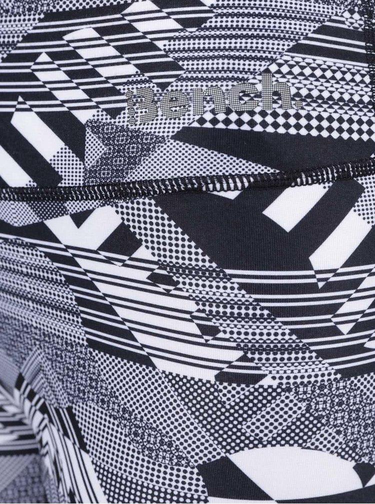 Bílo-černé vzorované legíny Bench