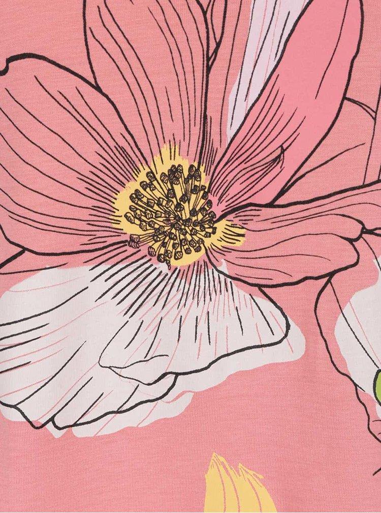 Top roz pal Desigual Marisa cu imprimeu floral