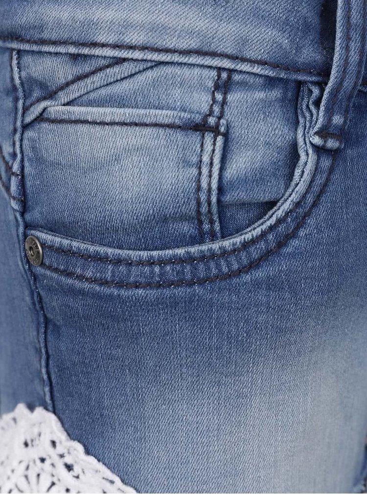 Tmavě modré džínové holčičí kraťasy Blue Seven