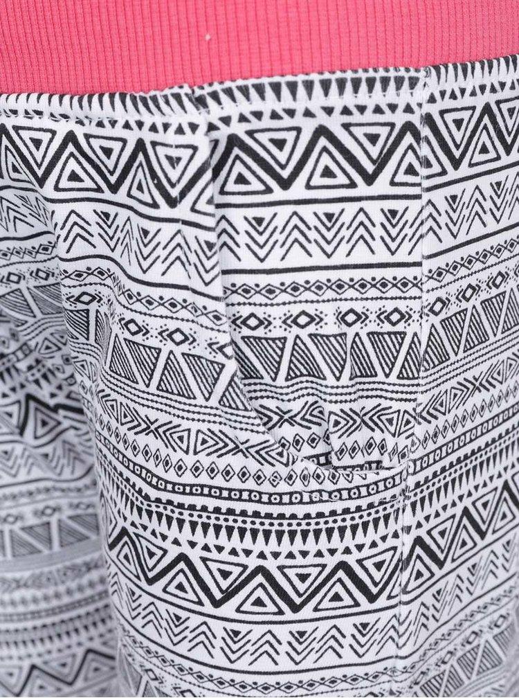Černo-bílé vzorované holčičí tepláky Blue Seven