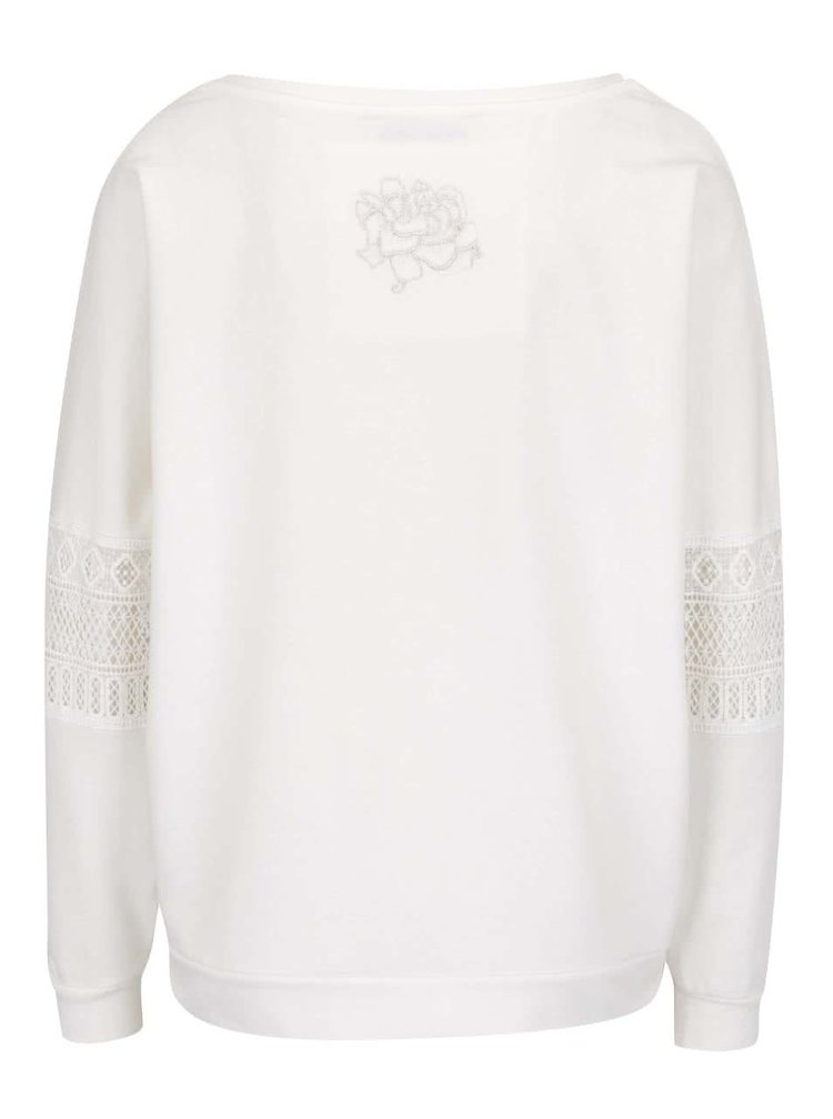 Bluză crem Desigual Lino cu model floral