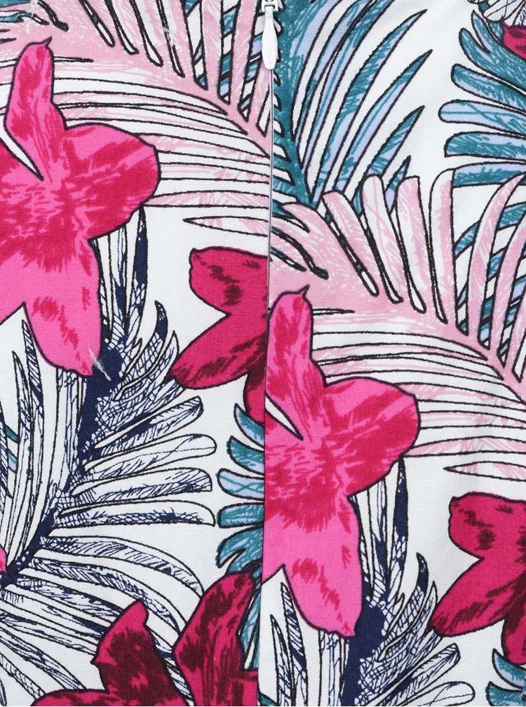 Růžovo-bílé květované holčičí šaty bez rukávů Blue Seven