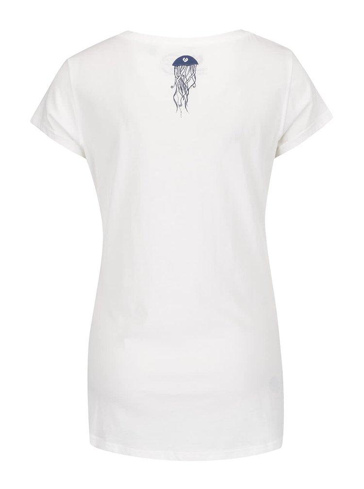 Tricou alb Ragwear Mint B Organic din bumbac organic cu print