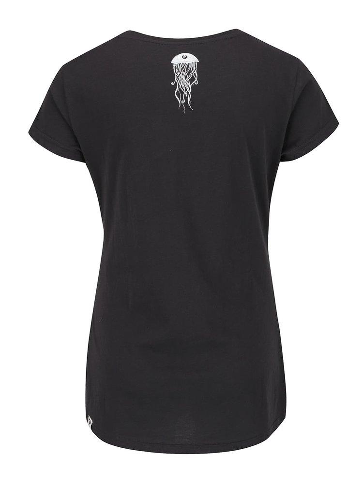 Černé dámské tričko s potiskem Ragwear Mint B Organic