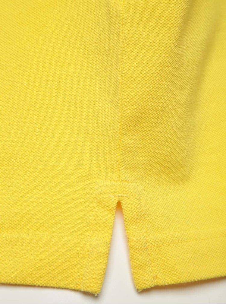 Žluté pánské polo tričko GANT Original Pique
