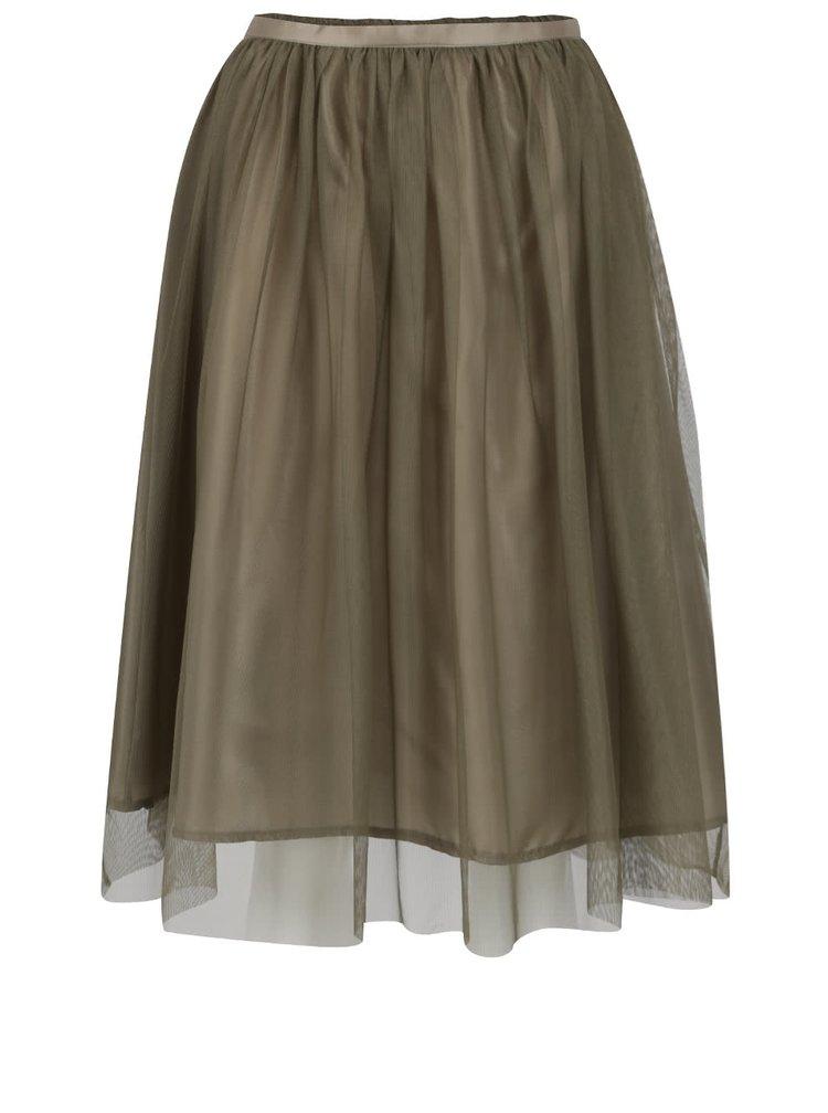 Khaki tylová sukně ZOOT