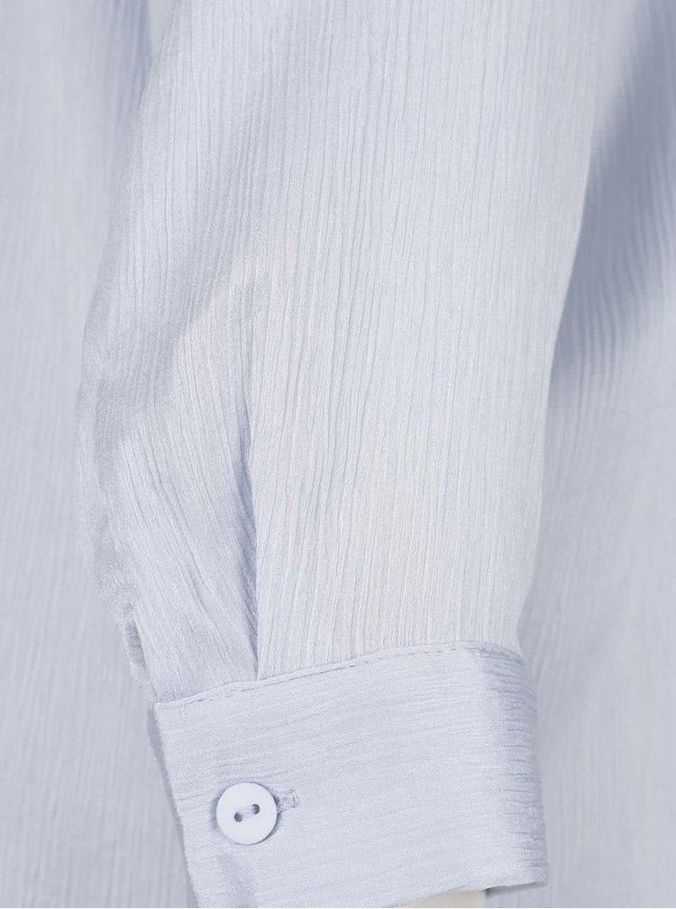 Světle modrá dlouhá halenka Selected Femme Augusta