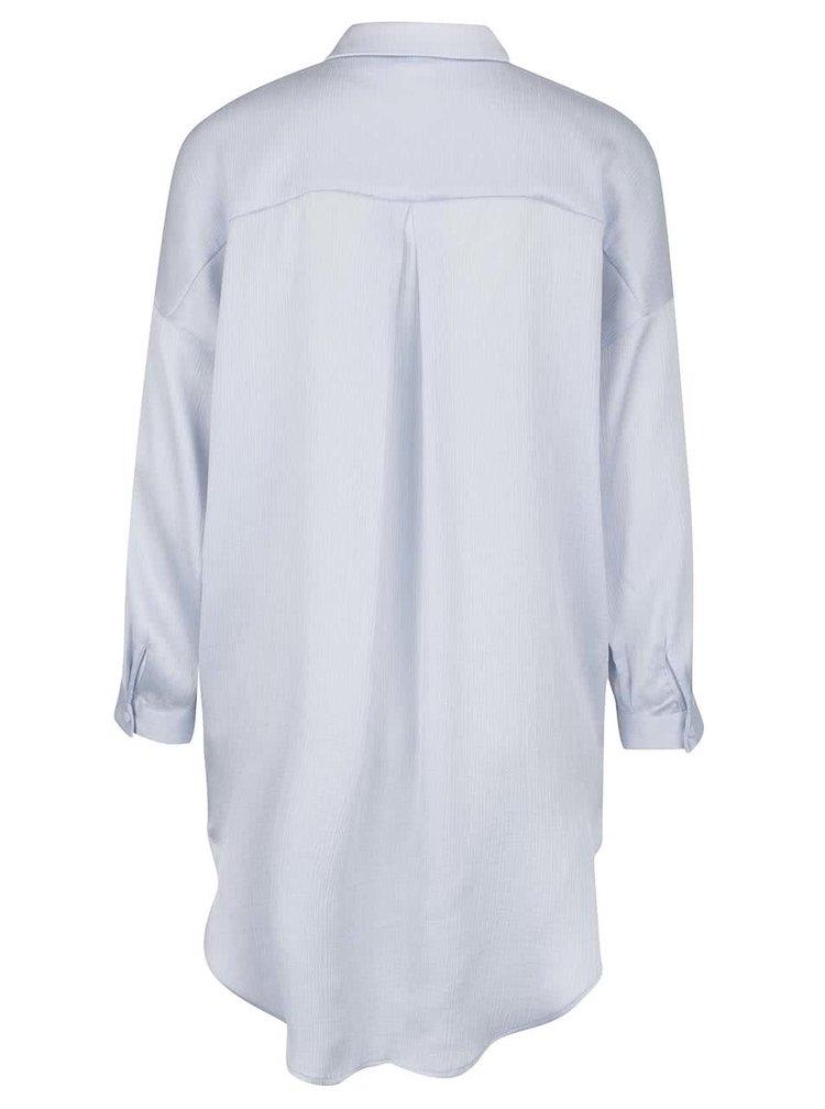 Bluza lunga bleu cu guler asimetric -  Selected Femme Augusta