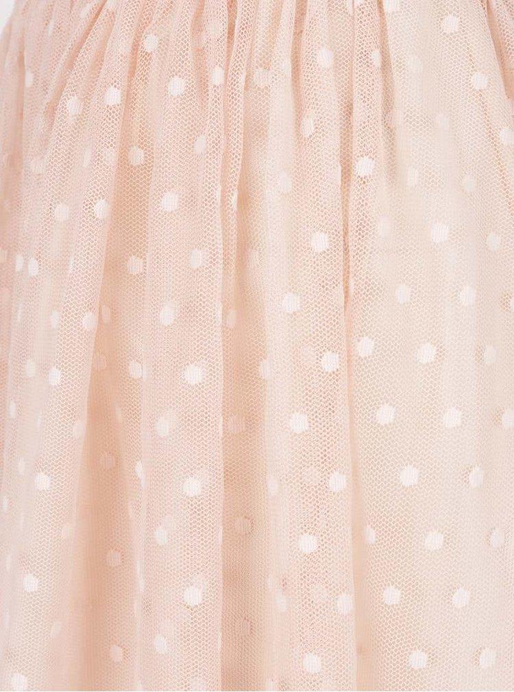 Světle růžová puntíkovaná tylová sukně ZOOT