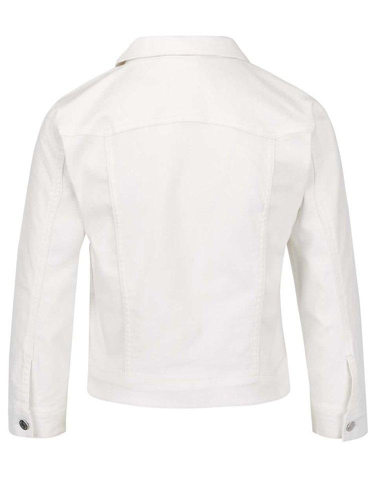 Krémová džínová bunda s kapsami VILA Birkin