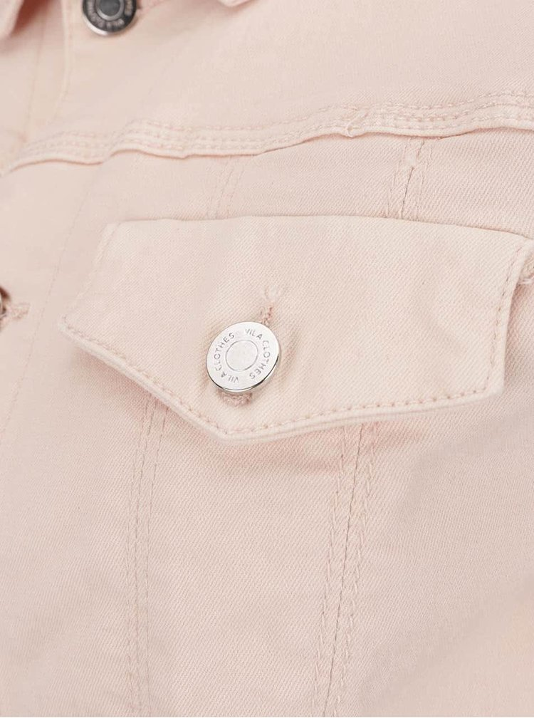 Jacheta roz pal Vila Birkin din denim