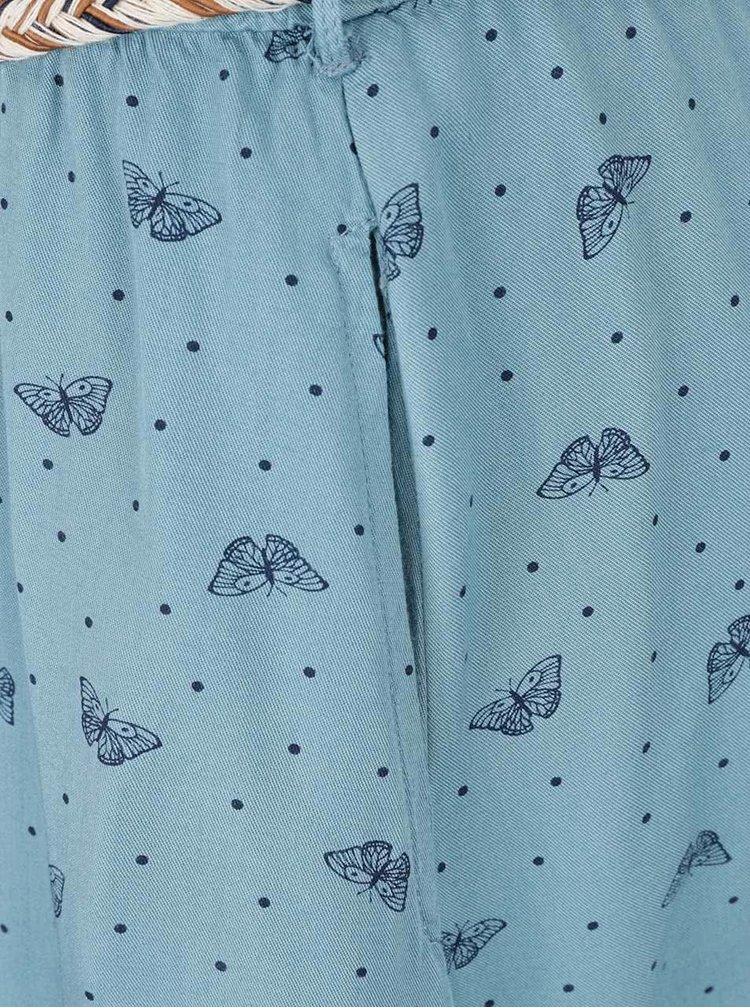 Modré vzorované šaty s  páskem Ragwear Zephie