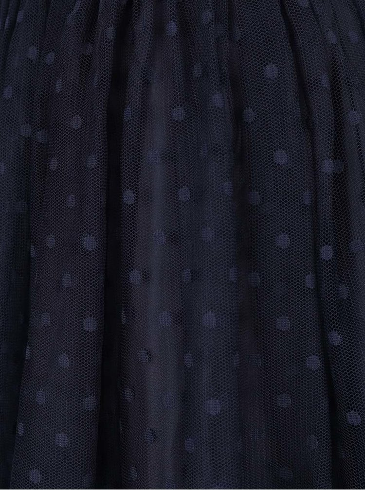 Tmavě modrá puntíkovaná tylová sukně ZOOT