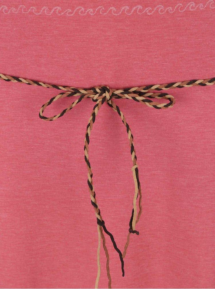Rochie maxi roșie Ragwear Tag Long cu model