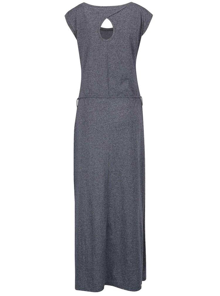 Rochie maxi albastru închis melanj Ragwear Athens Organic cu model