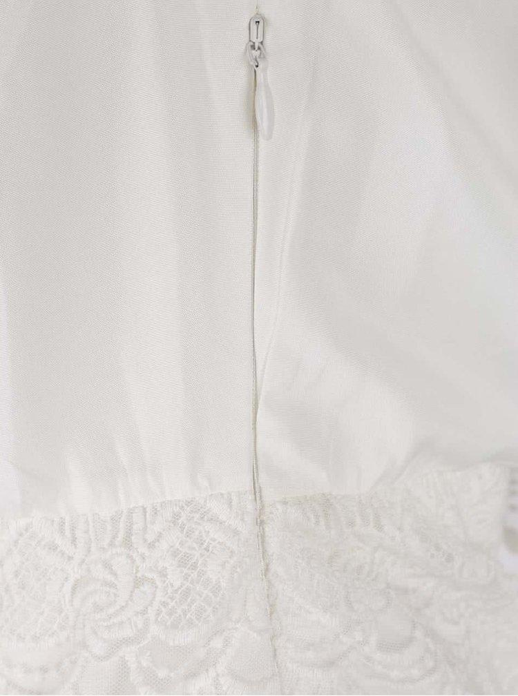 Krémové krajkové šaty s odhalenými rameny VILA Woodstock