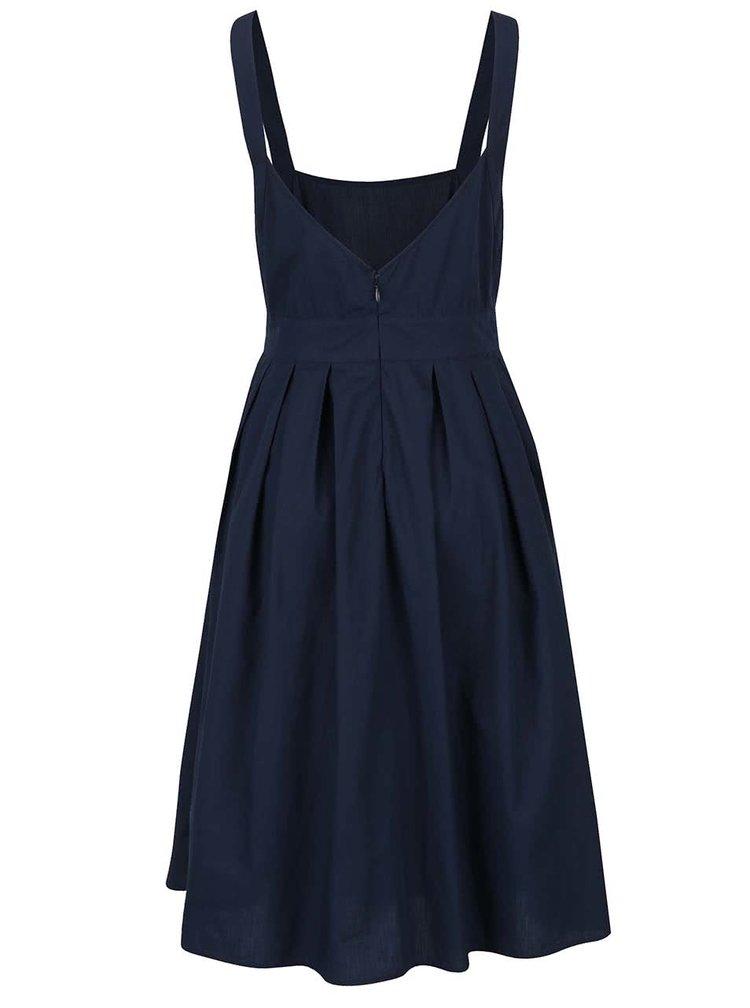 Tmavě modré šaty na ramínka VILA Theas