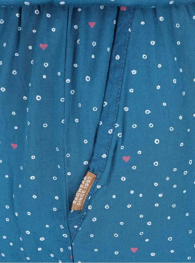 Tyrkysový puntíkovaný krátký overal Ragwear Lea