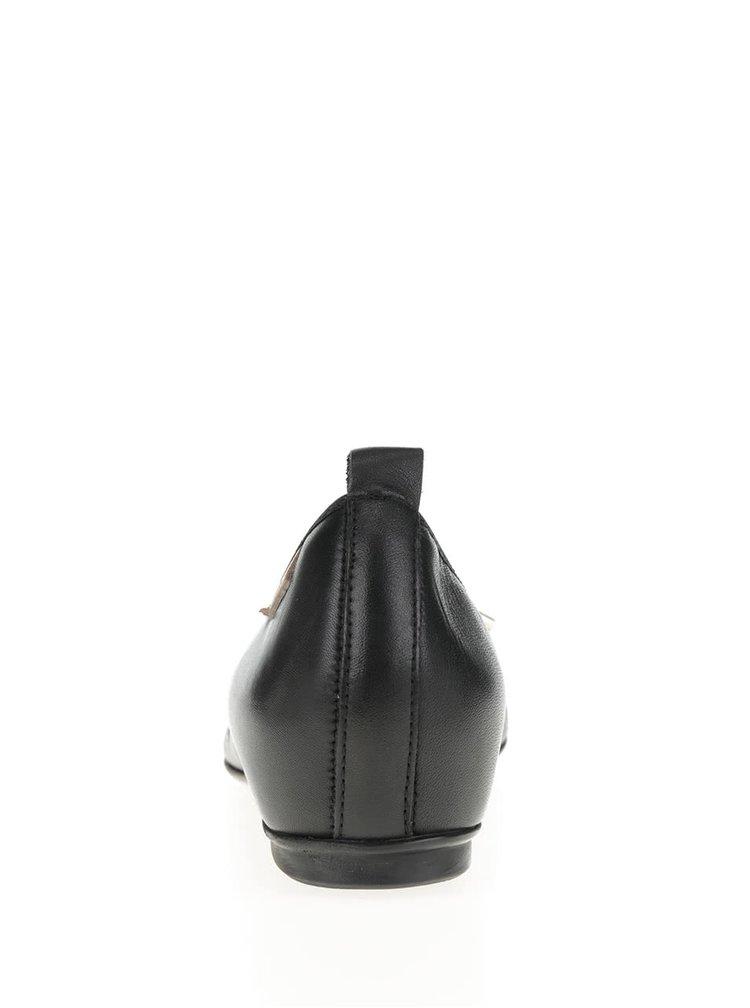 Kožené baleríny v černé barvě s mašlí Pikolinos La Marina