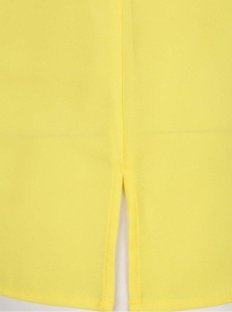 Top galben Nautica cu decolteu rotund cu decupaj