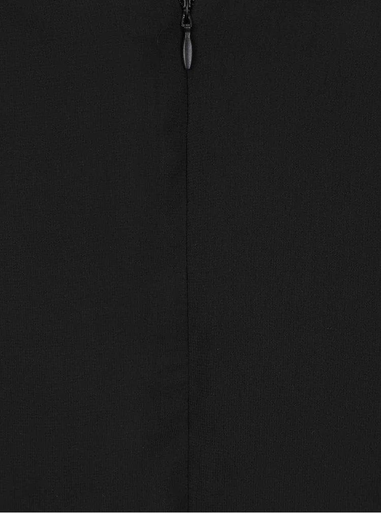 Rochie neagră Goddiva din material vaporos