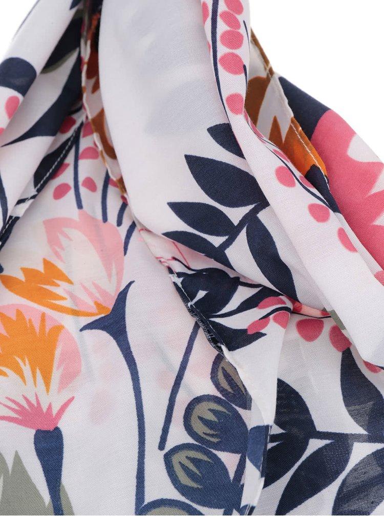 Krémový květovaný šátek Pieces Stay