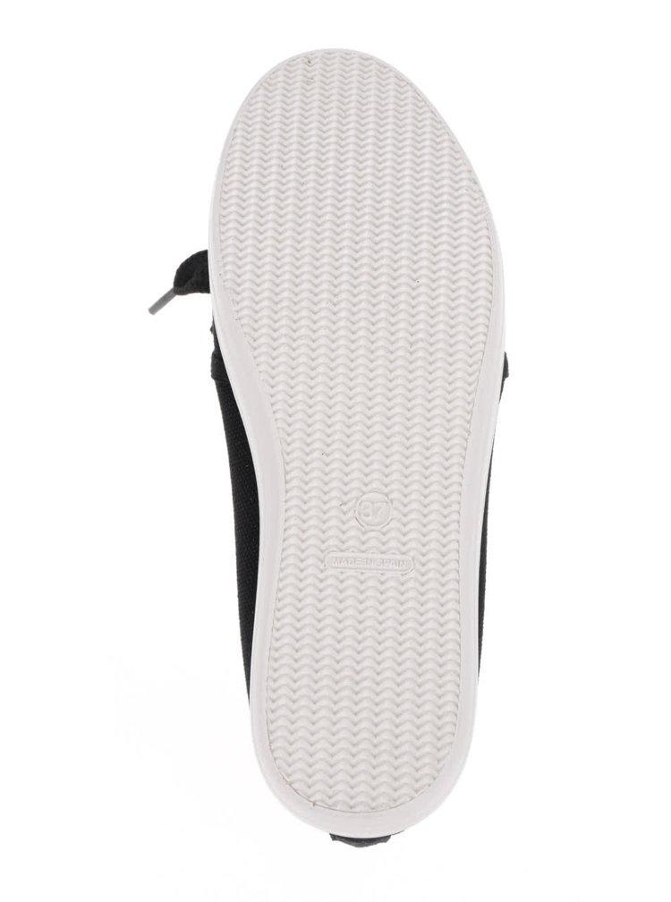 Černé dámské tenisky s tkaničkami OJJU
