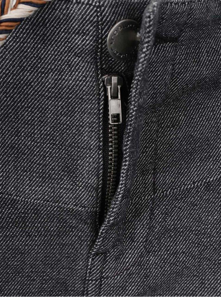 Tmavě šedé dámské džínové kraťasy s páskem Ragwear Heaven