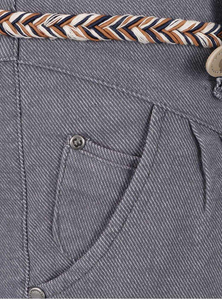 Světle šedé dámské džínové kraťasy s páskem Ragwear Heaven