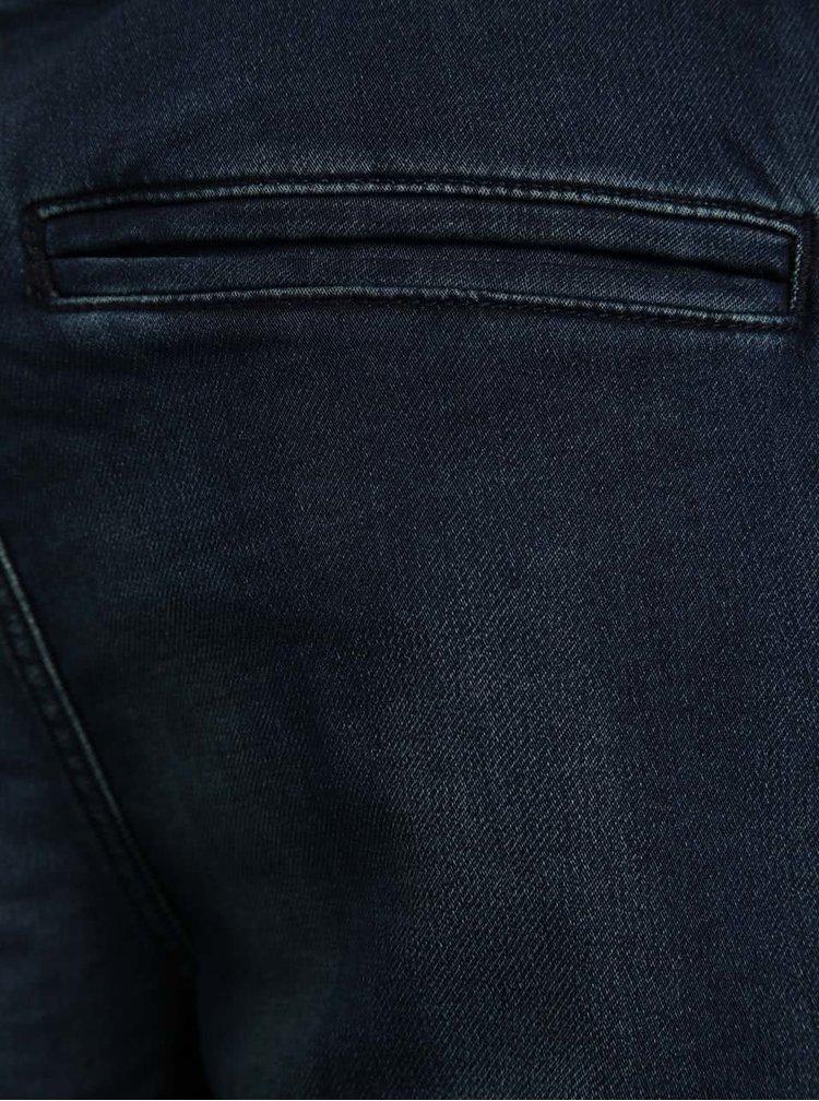 Pantaloni scurti albastru inchis ONLY & SONS Kean din denim cu talie elastica