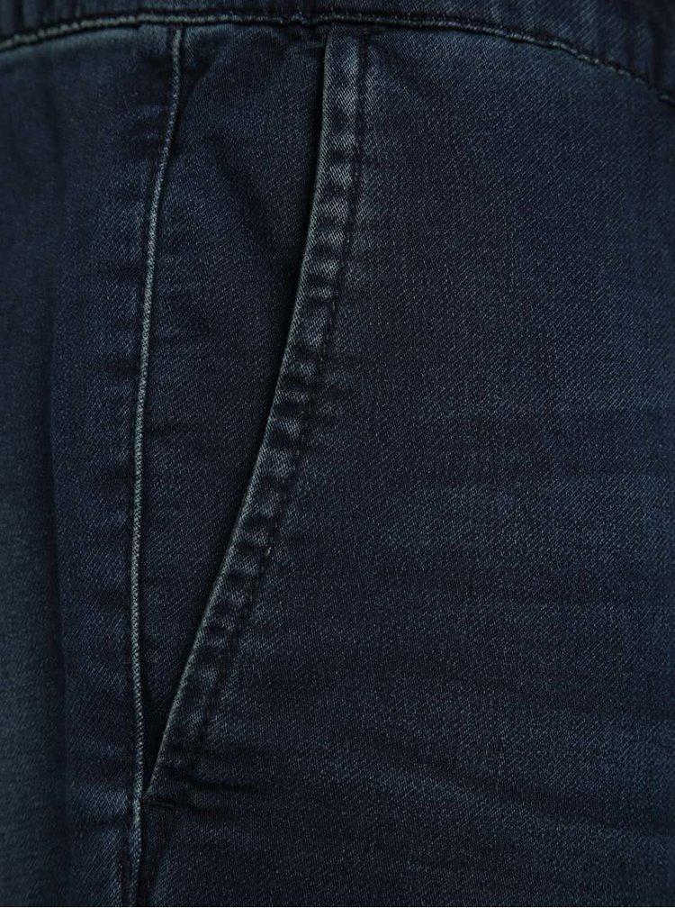 Pantaloni scurți albastru închis ONLY & SONS Kean din denim cu talie elastică