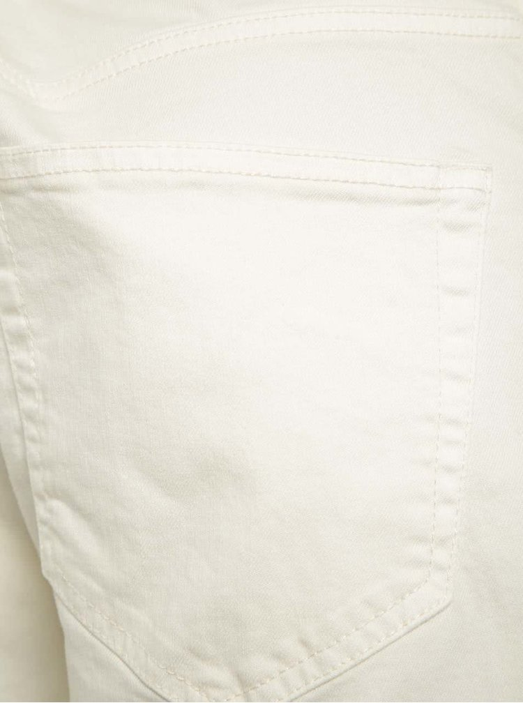 Pantaloni scurti crem ONLY & SONS Loom din denim cu croi drept