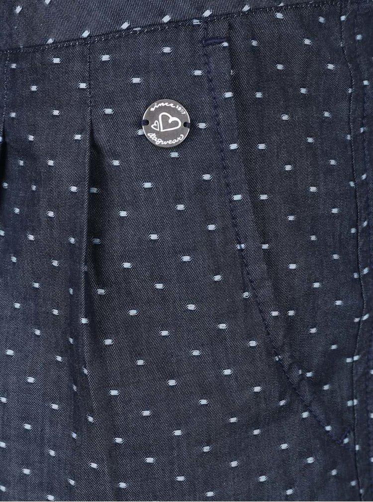 Tmavě modré dámské puntíkované kraťasy Ragwear High Dots