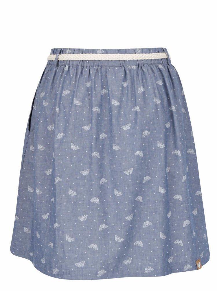 Modrá puntíkovaná sukně s potiskem motýlů Ragwear Mare B